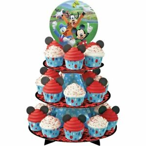 Wilton-Disney-MICKEY-MOUSE-ROADSTER-Cupcake-Treat-Stand-3-Tier-Birthday-Party