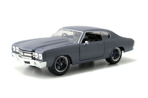 Fast and Furious 1970 Chevy Chevelle SS Primer Grey 1 24 Jada