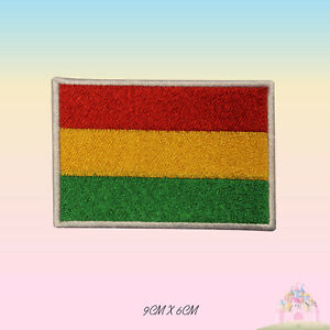 Bolivia National Flag Embroidered Iron On Patch Sew On Badge Applique