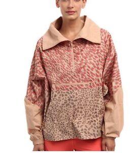 Women-039-s-Adidas-Starter-Windbreaker-Stella-McCartney-All-Over-3D-Animal-Print