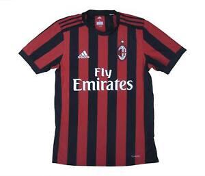AC MILAN 2017-18 Authentic Home Shirt (eccellente) S Soccer Jersey