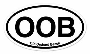 OOB-Old-Orchard-Beach-Oval-car-window-bumper-sticker-decal-5-034-x-3-034