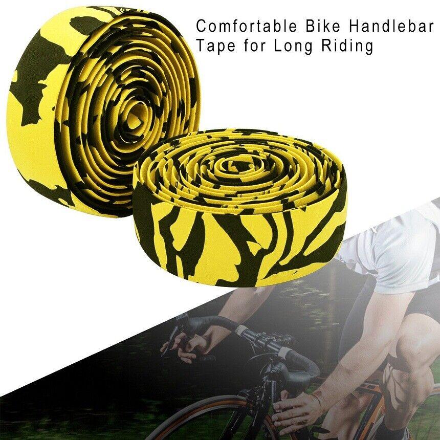 2 x Road Bike Handlebar Tape Bicycle Drop Bar Wrap Outdoor Sports Non-slip