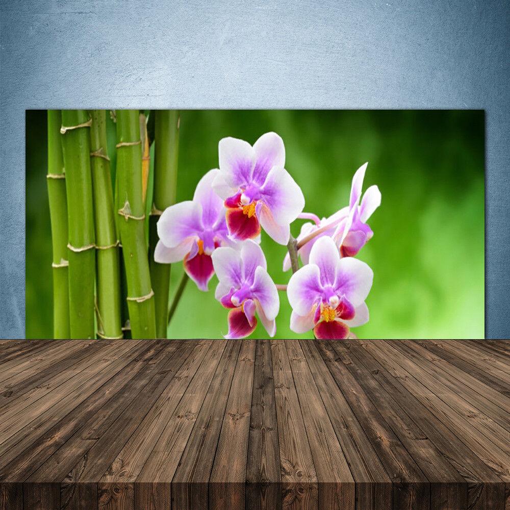 Crédence de cuisine cuisine cuisine en verre Panneau 140x70 Floral ...