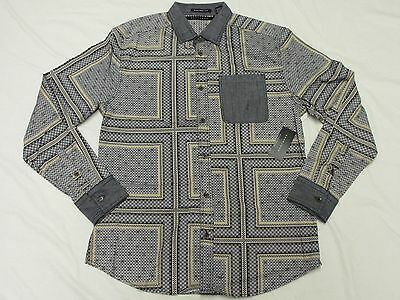 $69 NWT Mens Sean John Button Down Shirt Status Print Woven Urban 3XL XXXL K081