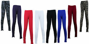 KIDS-GIRLS-CHILDRENS-FULL-LENGTH-LEGGINGS-7-8-9-10-11-12-13-dance-pants-stretchy