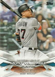 Details About 2018 Topps Mlb Awards Giancarlo Stanton Most Valuable Player
