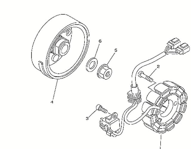 2005 Yamaha Yfz 450 Engine Flywheel Rotor Stator For Sale Online
