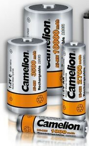 Camelion-Accu-pile-rechargeable-boitier-AAA-AA-C-D-9V-NiMH-accus-piles