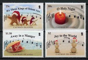 CAYMAN-ISLANDS-2018-neuf-sans-charniere-des-chants-de-Noel-Sainte-Nuit-Creche-4-V-SET-STAMPS