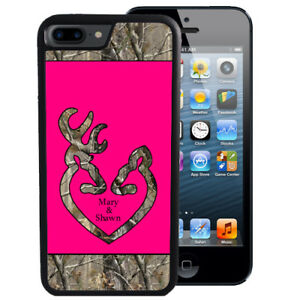 sale retailer 28ac9 94198 Details about Personalized Case Fits iPhone XR XS MAX X 8 7 6 Plus Hot Pink  Camo Deer Head