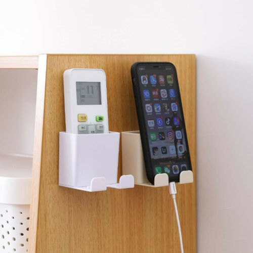 Wall Hanging Remote Controller Mobile Phone Bracket Storage Box No Hole Switch