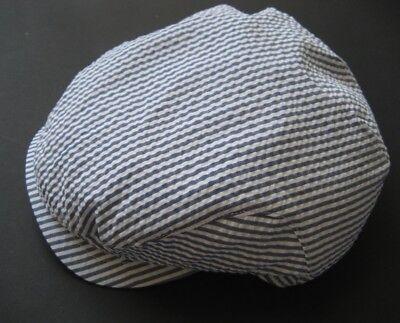 Johnston & Murphy Flatcap-driving Cap Blue-white