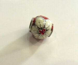 Brighton-Poinsettia-Spacer-Charm-red-white-silver-small-crystals-Christmas