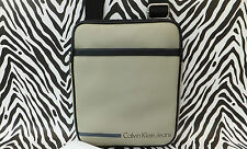 CALVIN KLEIN Slim/Thin Body Bag CDS0 VOYAGER Grey Shoulder iPad/Tablet Bags BNWT