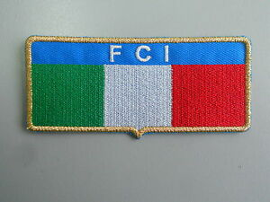TOPPA ITALIA FCI GIUDICE DI GARA RICAMATA ORO TERMOADESIVA CM 9X4