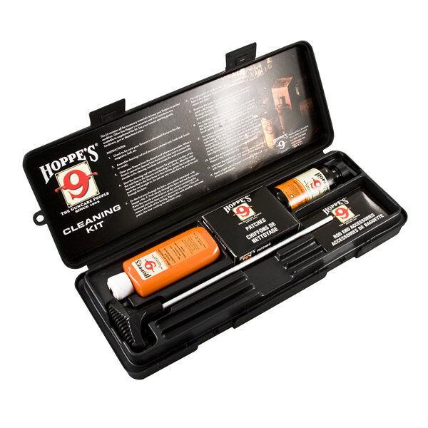 Hoppes Pistol Cleaning Kit W/ Hoppes Tornado Brushes .22 / .30 / .38-.357/ .45