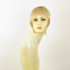 frange à clips peruk cheveux blond doré méché blond très clair: 20 en 24bt613