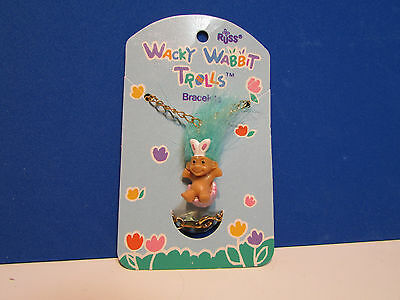 "NEW ON CARD CHILDRENS/' TROLL BRACELET 1/"" Russ Troll Doll"