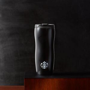 Starbucks Coffee Stainless Steel Onyx Black Lucy Slim Travel Mug Tumbler 16oz Ebay
