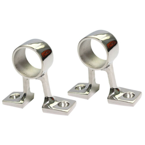 2pcs 316 Stainless Steel Marine Boat Stanchion 90° Hand Rail Fitting 25MM