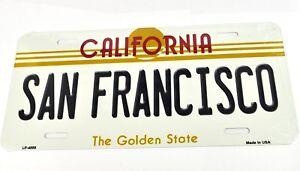 USA Auto Nummernschild License Plate Deko Blechschild California San Francisco