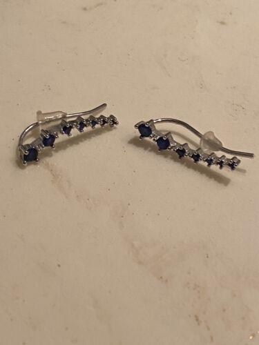 Sapphire Ear Climbers