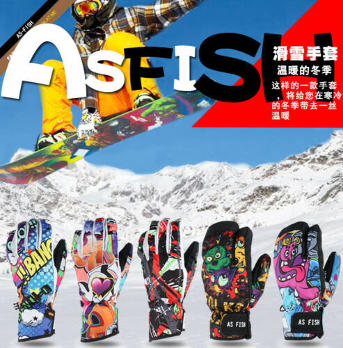 Men Women Winter Gloves Ski Snowboard Snow Thermal Waterproof Outdoor Sports