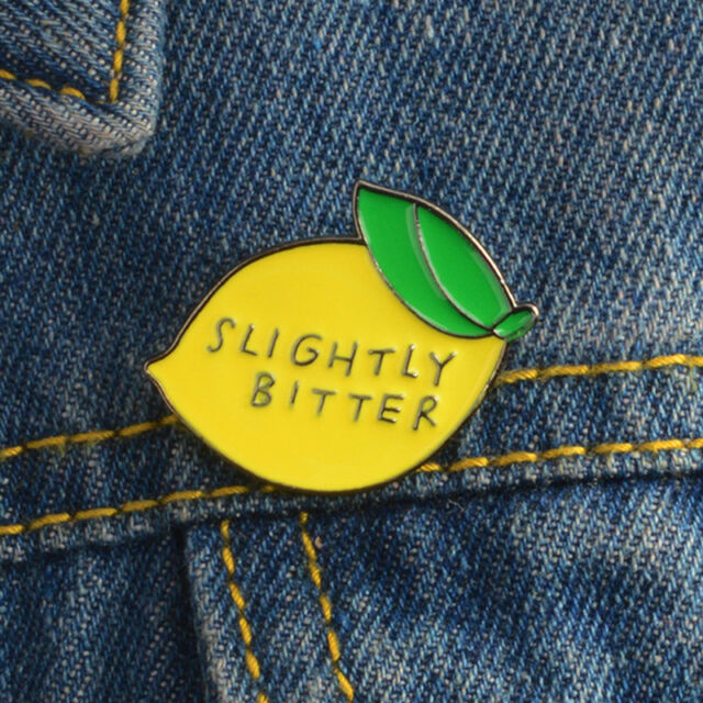 Cute Lemon Corsage Enamel Brooch Pin Badge Shirt Lapel Collar Fruit Pin SP