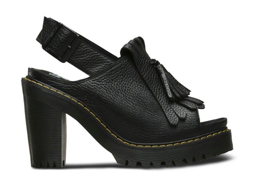 garanzia di credito Dr Martens Seraphina Aunt Sally Leather Leather Leather Pumps Heels Donna  US 10 nero NEW  160  liquidazione