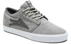 Lakai-Shoes-Griffin-Grey-Textile-USA-SIZE-Skateboard-Sneakers