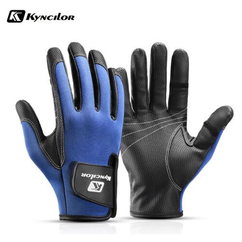 Kyncilor Men Women Fishing Gloves Waterproof Anti-skid 2 Cut Finger Winter Warm