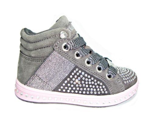 LELLI KELLY STRASS scarpe scarponcini bambina grigio fuxia sneakers shoes kids