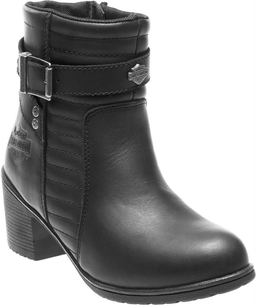 Harley-Davidson® Women's Saffron Motorcycle Riding Black Leather Boots D87124