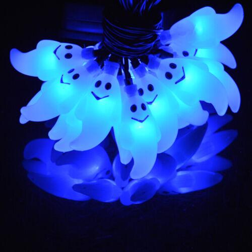 Solar Waterproof Ghost String Lights Halloween Decor Outdoor Light 20 LED 15.7FT