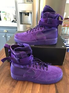 Details about Nike 864024 500 SF AF1 Air Force 1 One High Boot Court Purple Size 15 NIB!!!