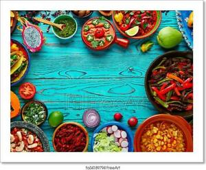 HERBS SPICES CHILI CANVAS PRINT PICTURE WALL ART KITCHEN TABLE WALL DECORATION