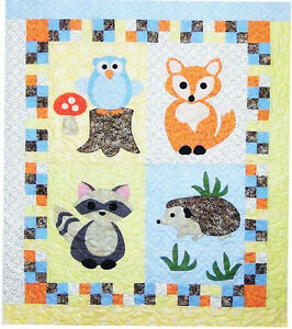 Woodland Babies Cute Applique Amp Pieced Baby Quilt