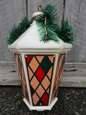 vintage large 32 municipal christmas blow mold lantern street pole light - Municipal Christmas Decorations