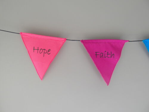 Balinese affirmation prayer flags inspirational mini positive words bunting