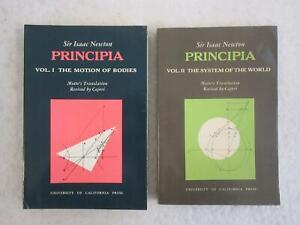 Sir-Isaac-Newton-PRINCIPIA-Motte-039-s-Translation-2-Vol-039-s-1962-Univ-of-California