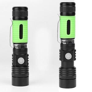 88000LM USB Charging Focus Flashlight Body With Luminous 3 Levels Switch Display
