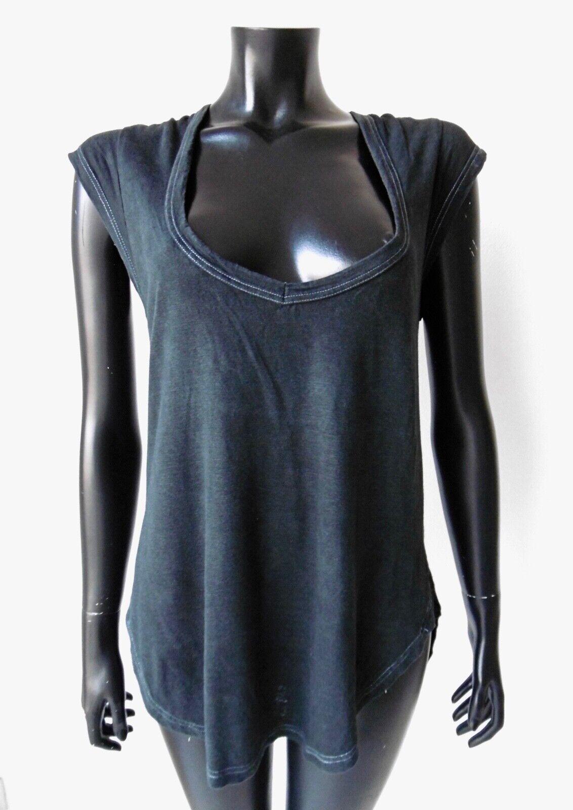 ISABEL MARANT ETOILE Top Haut Manches Courtes T-Shirt schwarz M