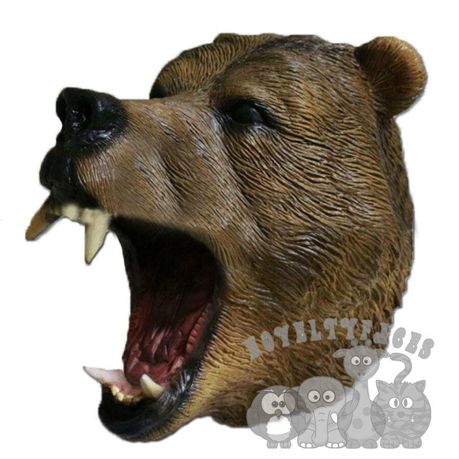 latex animal woodland bear wolf boar badger lemur fox rat prop fancy dress mask ebay. Black Bedroom Furniture Sets. Home Design Ideas