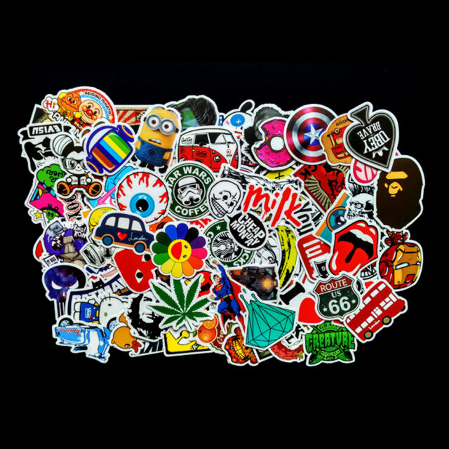100x Stickers Bomb Graffiti Vinyl For Car Skate Skateboard Laptop Luggage Decal