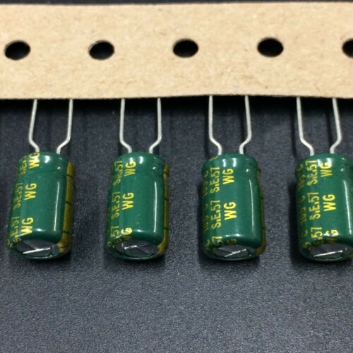 10pcs 680uF 10V SANYO WG 10V680uF 8X12mm Super Low ESR Motherboard Capacitor