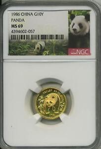 1986-1-10-oz-Gold-China-Panda-NGC-MS-69-10-Yuan