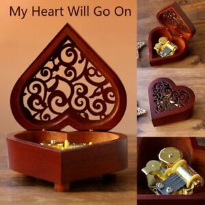 HEART CARVING WOODEN  MUSIC BOX ♫  YOU ARE MY SUNSHINE ♫