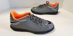 80a3e1593f3f Youth Nike Jr PhantomX Hypervenom 3 Club TF Dark Grey Orange White ...