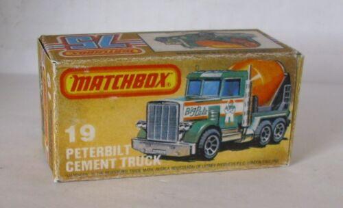 Repro box Matchbox Superfast nº 19 Peterbilt cement Truck
